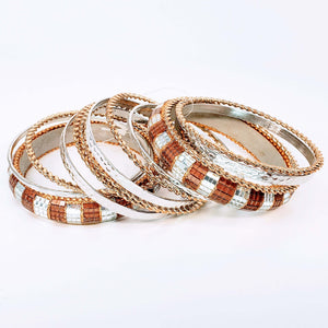 Bracelet Set Brown Mirror Bangle