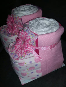 Diaper Cake - Baby Booties (Girl)