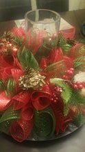 Load image into Gallery viewer, Deco Mesh Wreath Centerpiece