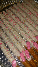 Load image into Gallery viewer, Pretzel Rods - Chocolate Covered/Dipped (Baby Shower)