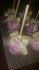 Apples - Chocolate Covered/Dipped (Pink w/ Purple Drizzle)