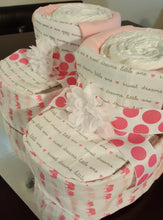 Load image into Gallery viewer, Diaper Cake - Baby Booties (Girl)