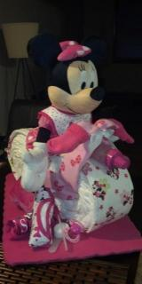 Diaper Cake Bike/Motorcycle - Minnie Mouse Theme