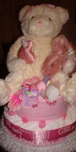 Load image into Gallery viewer, Diaper Cake - Pink Teddy (Girl)