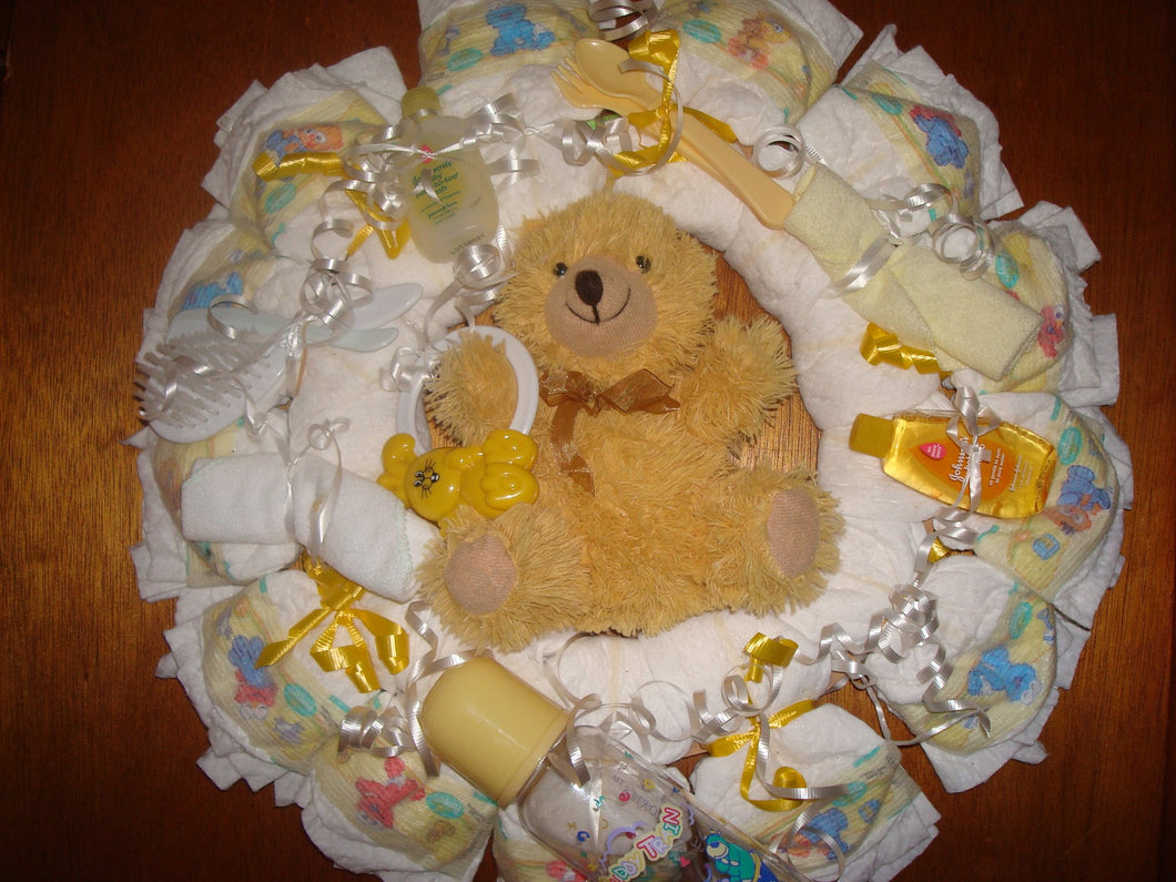 Diaper Cake Wreath - Neutral