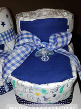 Load image into Gallery viewer, Diaper Cake - Baby Booties (Boy)
