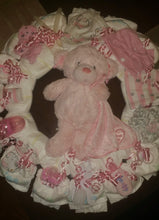 Load image into Gallery viewer, Diaper Cake Wreath - Girl