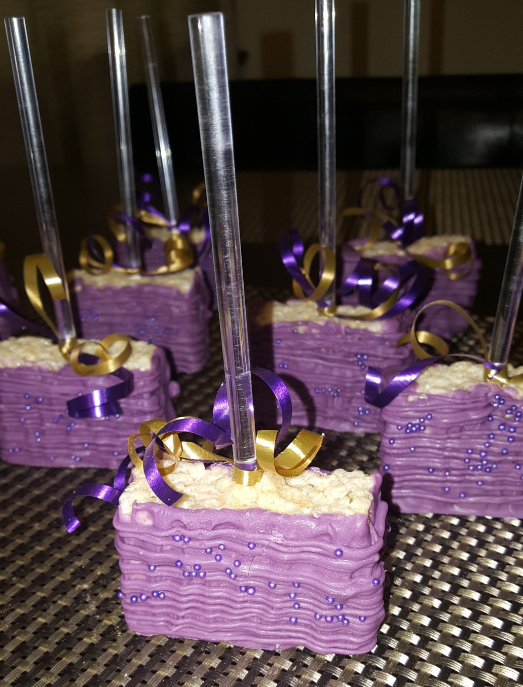 Rice Krispie Treats - Chocolate Covered/Dipped (Purple)