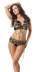 Belly dancing costume set