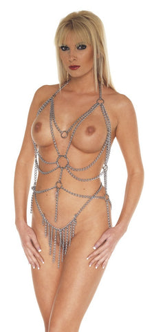 Chain Waterfall Top and Brief Set