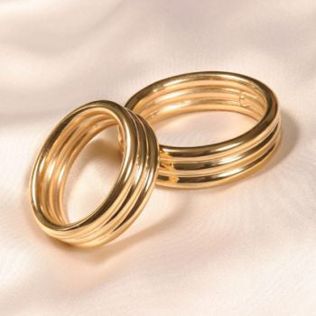 Men's gold plated cock ring