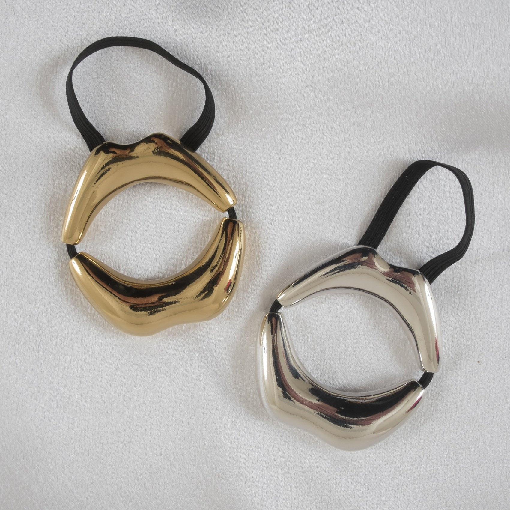 Men's silver or gold kiss cock ring