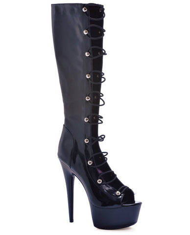 "Ellie Shoes Tyra 6"" Knee High Boot with Zipper"