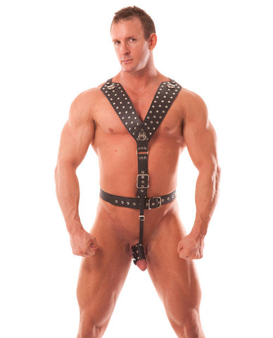 Rapture Male Leather Bondage Harness