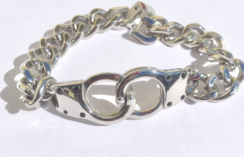 Men's Chain & Hand Cuff Bracelet / cock ring