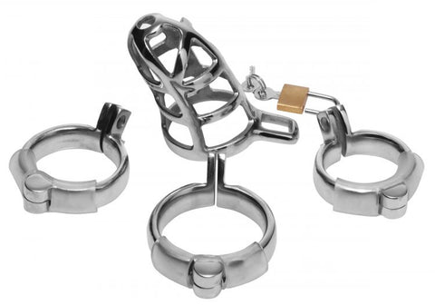Detained Stainless Steel Chastity Cage