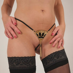 Gold Fan G-string
