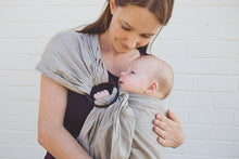 Load image into Gallery viewer, Linen Baby Carrier Black Rings Ringsling