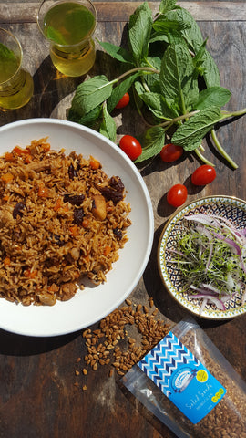 Authentic Mediterranean Rice with Salad Seeds