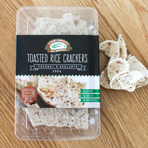 Toasted Rice Crackers - Coconut & Shallots