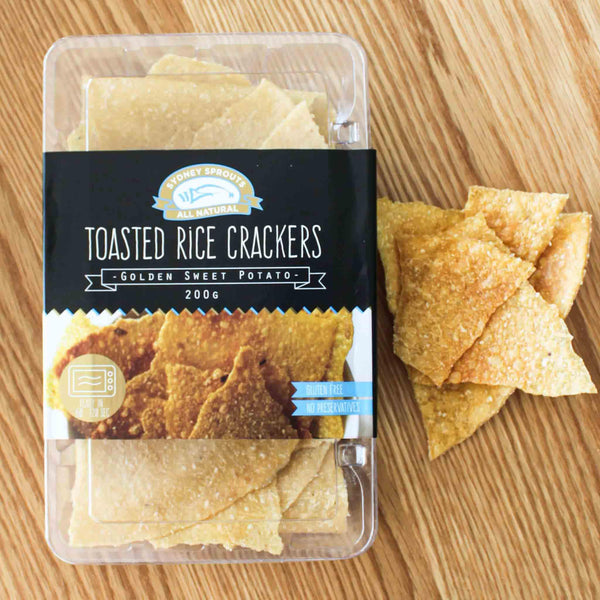 Toasted rice crackers - Sydney Sprouts