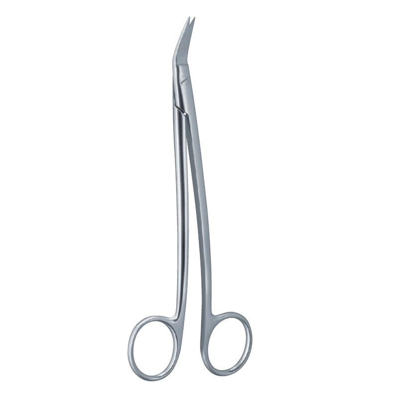 Dean Surgical Scissor, 1 Blade serrated, 17.5cm/7""