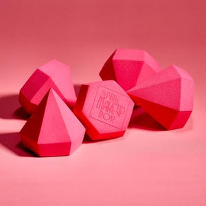 THE PINK MAKEUP BOX BEAUTY SPONGE (DIAMOND EDITON) - HOT PINK