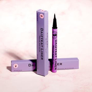 DaizyKat Waterproof Matte Black Eyeliner - Purple Tube