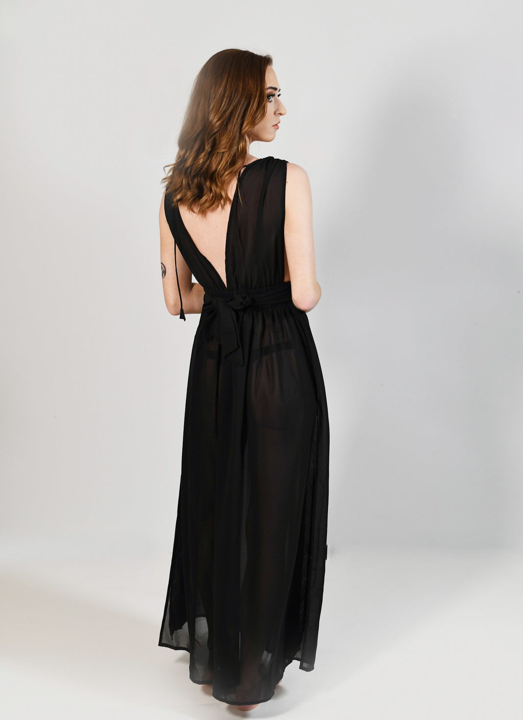 Sheer Maxi Dress Cover-Up