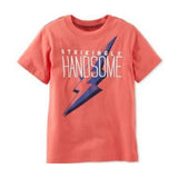 Camiseta Carters Manga Curta Strikingly Handsome
