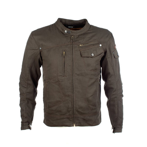 RESURGENCE GEAR ROCKER MENS DENIM STYLE JACKET - OLIVE GREEN