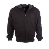 Resurgence black zipped protective motorcycle hoody