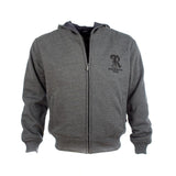 Resurgence grey zipped protective motorcycle hoody