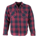 RESURGENCE GEAR PROTECTIVE MOTORCYCLE SHIRT JACKET IN BLACK AND RED CHECK