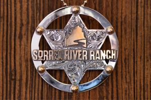 SRR Star Sheriff Badge Necklace