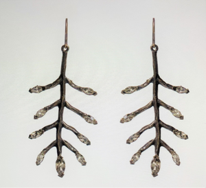 Metal Feathers with Diamond Hooks