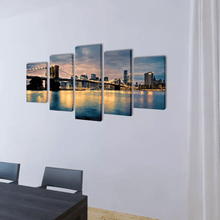 Lade das Bild in den Galerie-Viewer, Leinwandbilder-Set Brooklyn Bridge Bay View - Oceanshore.ch