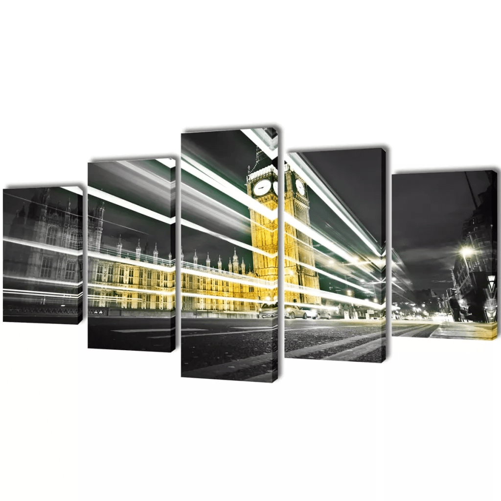 Leinwandbilder-Set London Big Ben - Oceanshore.ch