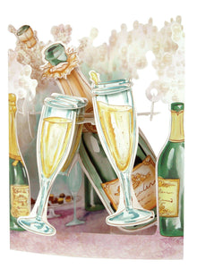 Grusskarte 3D Swing Card - Champagne Celebration - Oceanshore.ch