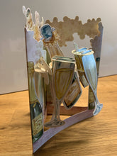 Lade das Bild in den Galerie-Viewer, Grusskarte 3D Swing Card - Champagne Celebration - Oceanshore.ch