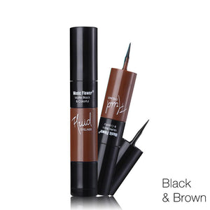 2 In 1 Waterproof Liquid Eyeliner