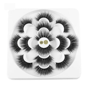 7 Pairs 3D Mink Hair False Eyelashes