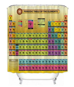 Periodic Table Style Shower Curtain