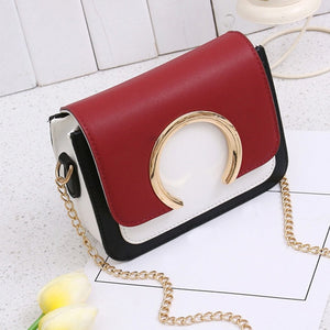 Ring Patchwork Crossbody Hand Bag