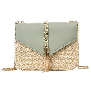 Fringed Chain Small Flap Bag