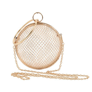 Hollow Metal Ball Women Handbag