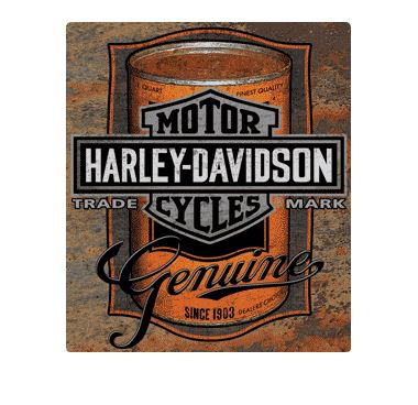 Harley-Davidson® Tin Sign, Oil Can Bar & Shield Rustic Sign
