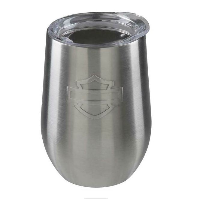 Harley-Davidson® Silhouette B&S Stainless Steel Wine Tumbler