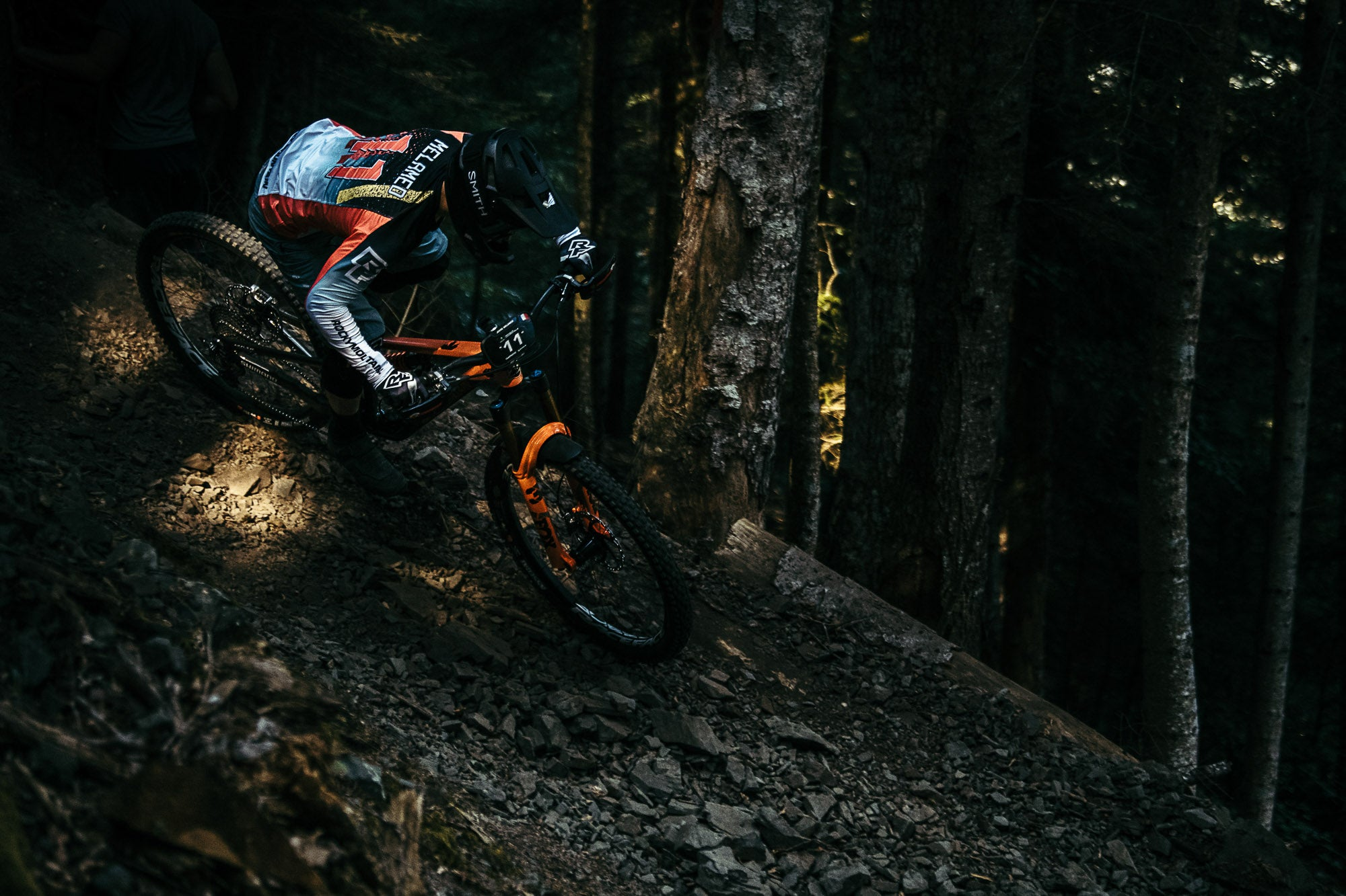 Jesse Melamed rides his Altitude in the 5th Round of the 2021 EWS season