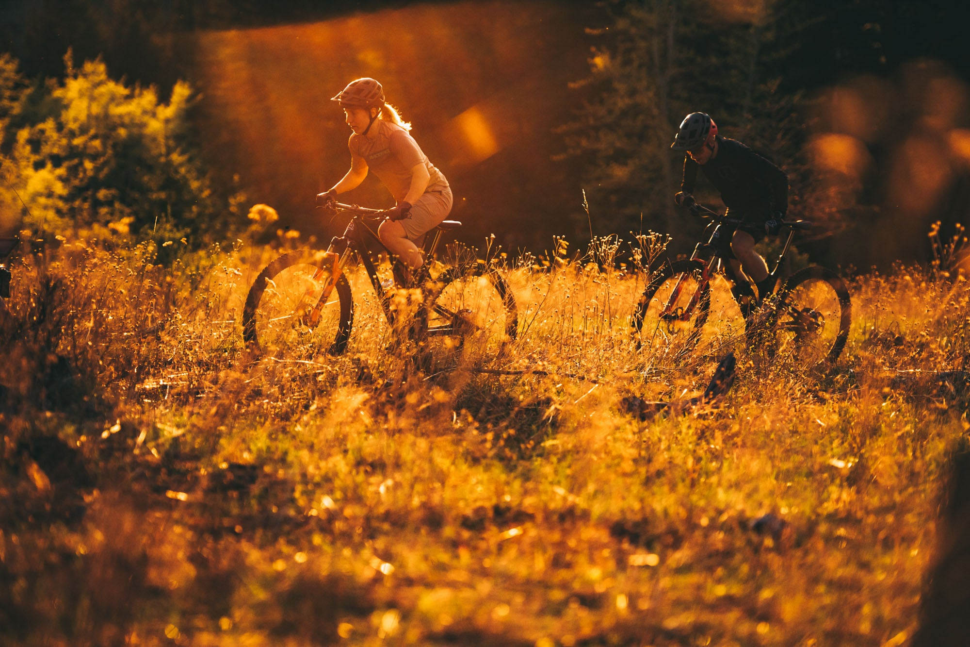 Andreane Lanthier Nadeau and Remi Gauvin rides the Element in British Columbia, Canada